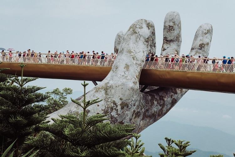 Travelers at Da Nang Bridge