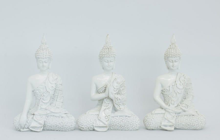 3 White Buddhas